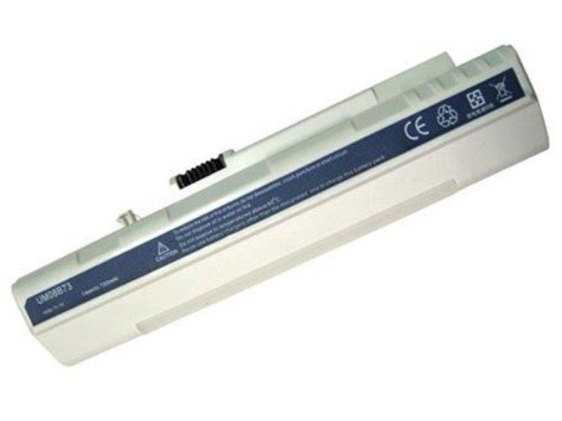 Батарея (аккумулятор) для ноутбука Acer Aspire One A110, A150, D150, D250, ZG5 series, белая 11.1V 6